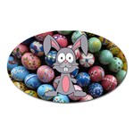 Easter Egg Bunny Treasure Magnet (Oval)