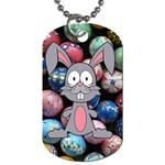Easter Egg Bunny Treasure Dog Tag (One Sided)
