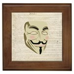 We The Anonymous People Framed Ceramic Tile