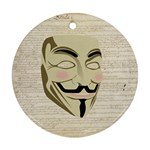 We The Anonymous People Round Ornament