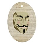 We The Anonymous People Oval Ornament