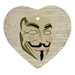 We The Anonymous People Heart Ornament