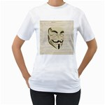 We The Anonymous People Women s Two-sided T-shirt (White)