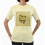We The Anonymous People Women s T-shirt (Yellow)