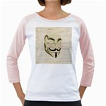 We The Anonymous People Women s Long Cap Sleeve T-Shirt (White)