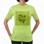 We The Anonymous People Women s T-shirt (Green)