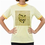 We The Anonymous People Women s Ringer T-shirt (Colored)