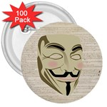 We The Anonymous People 3  Button (100 pack)