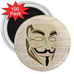 We The Anonymous People 3  Button Magnet (100 pack)