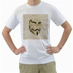 We The Anonymous People Men s Two-sided T-shirt (White)