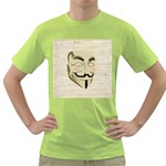 We The Anonymous People Men s T-shirt (Green)