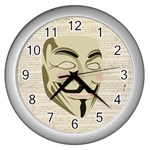 We The Anonymous People Wall Clock (Silver)