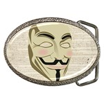 We The Anonymous People Belt Buckle (Oval)