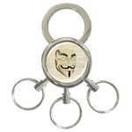 We The Anonymous People 3-Ring Key Chain