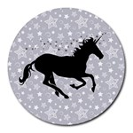 Unicorn on Starry Background 8  Mouse Pad (Round)