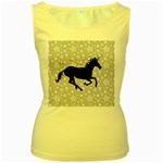 Unicorn on Starry Background Women s Tank Top (Yellow)