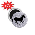 Unicorn on Starry Background 1.75  Button Magnet (10 pack)