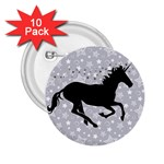 Unicorn on Starry Background 2.25  Button (10 pack)