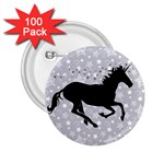 Unicorn on Starry Background 2.25  Button (100 pack)
