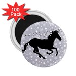 Unicorn on Starry Background 2.25  Button Magnet (100 pack)