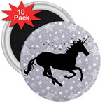 Unicorn on Starry Background 3  Button Magnet (10 pack)