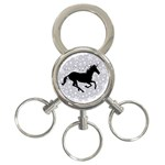 Unicorn on Starry Background 3-Ring Key Chain