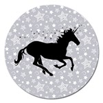 Unicorn on Starry Background Magnet 5  (Round)