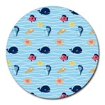 Fun Fish of the Ocean 8  Mouse Pad (Round)