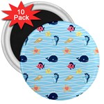 Fun Fish of the Ocean 3  Button Magnet (10 pack)