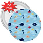 Fun Fish of the Ocean 3  Button (100 pack)