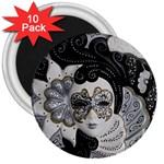 Venetian Mask 3  Button Magnet (10 pack)