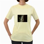 Dark Faery and Night Waterfall Women s Yellow T-Shirt