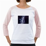 Dark Faery and Night Waterfall Girly Raglan