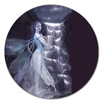 Dark Faery and Night Waterfall Magnet 5  (Round)