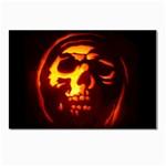 Fiery Skull on Black Postcard 4  x 6