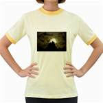 Gothic Mountain Setting Sun Women s Fitted Ringer T-Shirt