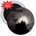 Gothic Mountain Setting Sun 3  Magnet (10 pack)
