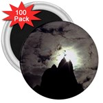 Gothic Mountain Setting Sun 3  Magnet (100 pack)