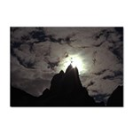 Gothic Mountain Setting Sun Sticker A4 (100 pack)