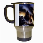 Gothic Unicorn Dark Storm Travel Mug (White)