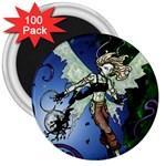Purple Night Elf Fairy 3  Magnet (100 pack)