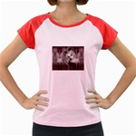 Vampire Goth Fairy on Bloody Background Women s Cap Sleeve T-Shirt