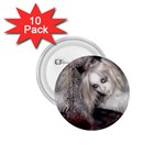 Vampire Goth Fairy on Bloody Background 1.75  Button (10 pack)
