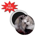 Vampire Goth Fairy on Bloody Background 1.75  Magnet (10 pack)