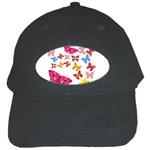 Butterfly Beauty Black Baseball Cap