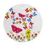 Butterfly Beauty Round Ornament