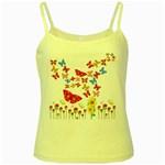 Butterfly Beauty Yellow Spaghetti Tank