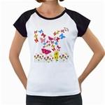 Butterfly Beauty Women s Cap Sleeve T-Shirt (White)