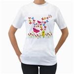 Butterfly Beauty Women s Two-sided T-shirt (White)