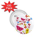 Butterfly Beauty 1.75  Button (100 pack)